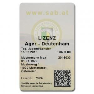 Ager Deutenham – Tageslizenz 2020 Jugend
